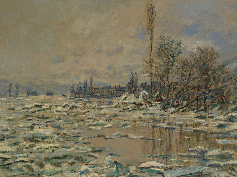 Claude Monet French Impressionist - The Icedrift Series - painted through his time-window of mourning.